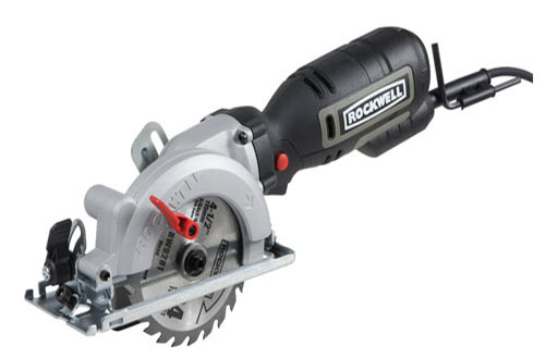 "10. Rockwell 4-1/2"" Compact Circular Saw, 5 amps, 3500 rpm, with Dust Port and Starter Kit– RK3441K"