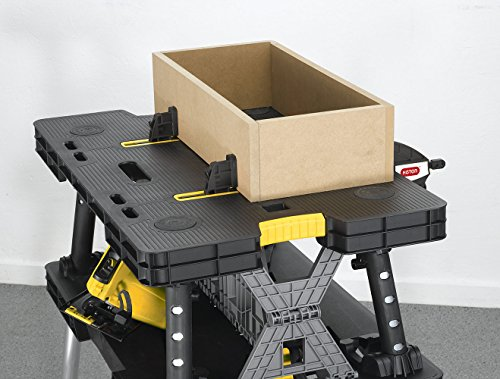 Keter Folding Compact Workbench Work Table With Clamps 21 7 X 33 5